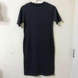 NEW!!! Blackish-grey Dress (Low Turtle Neck)