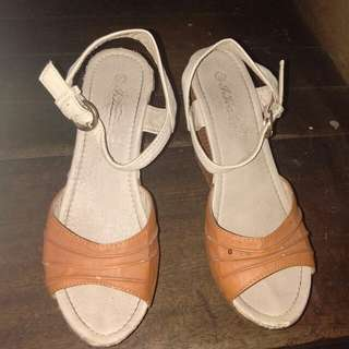 Nude wedge heels