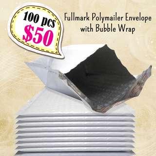 100pcs x Polymailer Envelope with Bubble Wrap