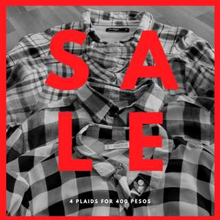 Checkered / Plaid Polo Blouse Bundle