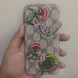 gucci embroidery bordir case iphone 6 6s softcase hardcase