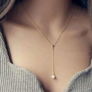 Drop Pearl Necklace