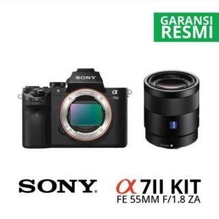 Sony A7 II + 55mm F1.8 Cash-Kredit Tanpa CC