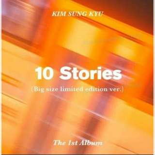 Kim Sung Kyu 1st Album 10 Stories Limited Edition Normal Version