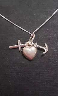 Anti Tarnished 925 Sterling Silver Three Charms Pendant Charm with free chain