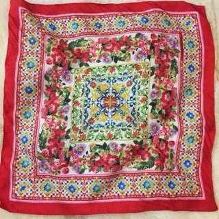 Dolce and Gabbana silk scarf