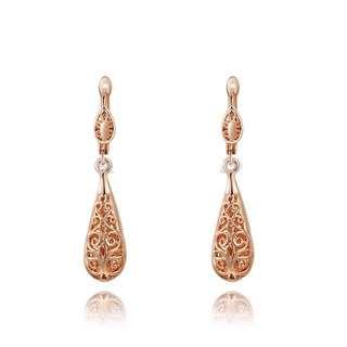 Elegant rose gold earrings