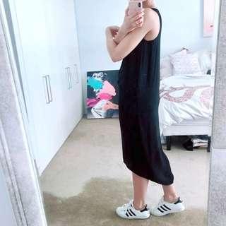 Cos minimalist midi dress in black