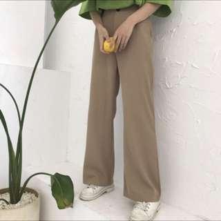 卡其色西裝褲喇叭褲!
