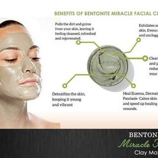Bentonite healing mask with vit e and Glutathione