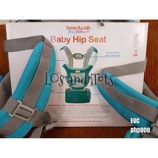 Boardwalk hip and seat baby carrier