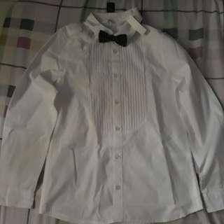 H&M longsleeve w/ bow tie