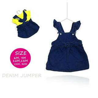 Baby Girl Denim Jumper Skirt