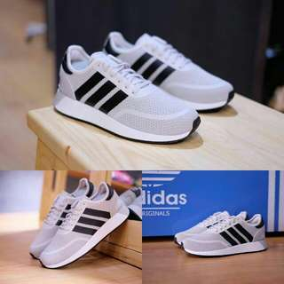 ADIDAS N5923 CHARCOAL GREY WHITE ORGINAL