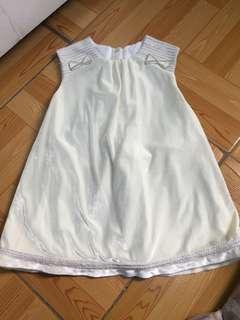 Mamino white velvet dress