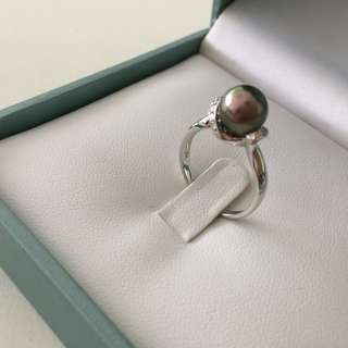 ✨New 18K Tahitian black pearl ring 大溪地黑珍珠戒指✨