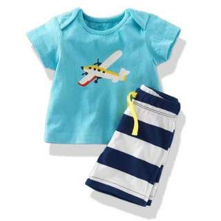Boys's 2-PC Terno Airplane - Clothing