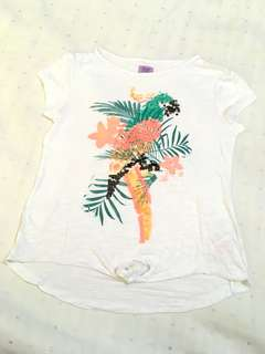 Charity Sale! F&F Girl's Parrot Island Paradise T-Shirt Size 9-10