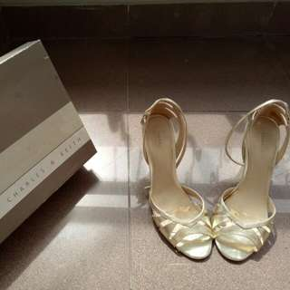 CHARLES&KEITH Gold Heels