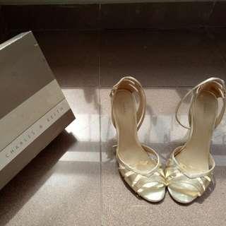CHARLES&KEITH Gold Heels