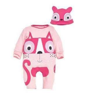 Animal Jumpsuit and Hat Cat - Clothing
