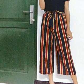 Kulot Stripe+ikat Pinggang Look Zara