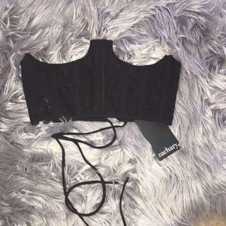 Black under boob corset