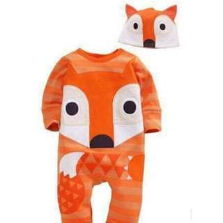 Animal Jumpsuit and Hat Fox - Clothing