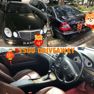 Mercedes E200K For Rent [2 Ready Units]