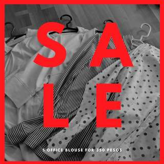 5 for 300 Pesos Only Office Polo Blouse