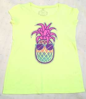 Charity Sale! Miss Understood Girl's Pineapple Beach t-shirt