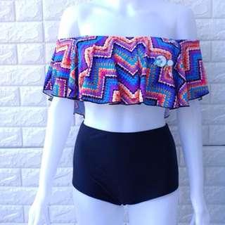 Off shoulder Highwaist Swimwear