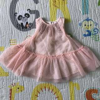 Cotton On Baby Sparkly Peach Dress (3-6M)