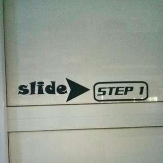 Step by step toilet door!
