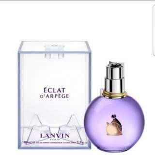 Brand New Lanvin Eclat Perfume 100ml Tester set EDP