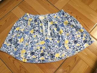 Mothercare blue flowered skirt bnew