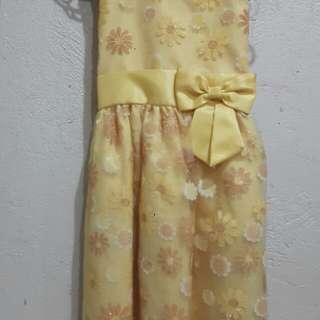 Sparkling Yellow Sunday Dress