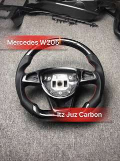 Mercedes Carbon steering