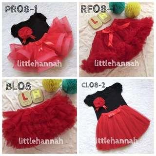 ♥️Red Tutu Skirts (newborn to adult)