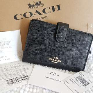 AUTHENTIC COACH MEDIUM CORNER ZIP WALLET