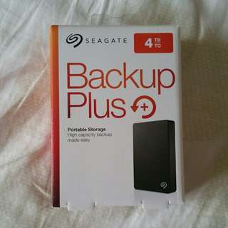 "Seagate Backup Plus 4TB Seagate 4TB Portable External HDD Hard Disk Drive Backup Plus 4.0 TB external 2.5"" Portable"