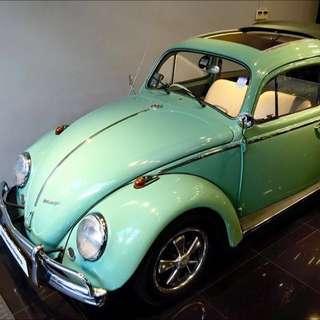 VV 1960s Vintage Rag Top Beetle For wedding Car