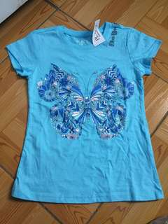 The Place blue butterly tee bnew