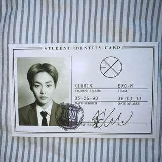(WTS) EXO XIUMIN XOXO ALBUM PHOTOCARD