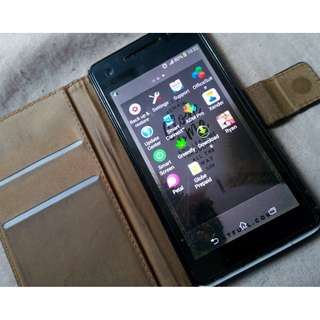 Sony Experia V LT25i With TEMPERED GLASS and Leather Case