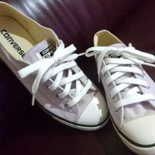 專櫃正品 CONVERSE 淺紫色 低筒 短筒 帆布鞋 休閒鞋 23.5 / 37.5 / 6.5