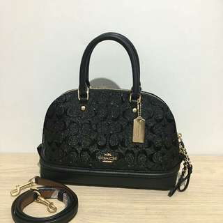 Coach Mini Sierra Debossed Black