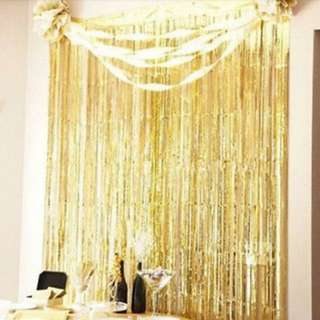 Tinsel Foil Curtain Backdrop
