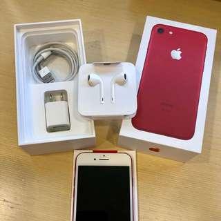 🚚 使用未滿一年,近全新,iphone7 256G聖誕紅限定色,尚有保固!