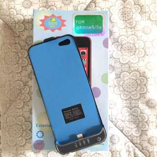 iPhone 5/5s powerbank case (2200 mah)